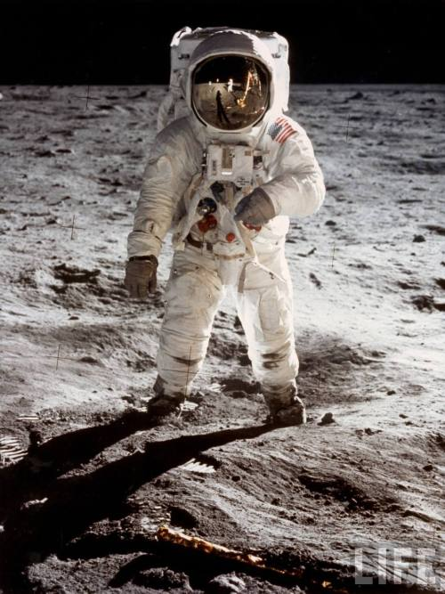 Buzz Aldrin photographed by Neil Armstrong on the surface of the moon
